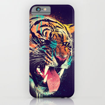 FEROCIOUS TIGER iPhone & iPod Case by Dzeri29