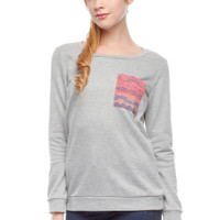 Grey Aztec Pocket Sweatshirt