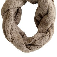 Fuzzy Wuzzy Loop Scarf - Oatmeal