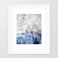 Frozen Beauty Framed Art Print by Vargamari | Society6