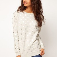 ASOS Sweatshirt in Foil Spot at asos.com
