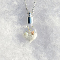 Winter White Terrarium Necklace