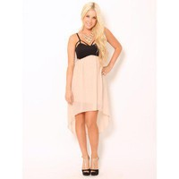Chiffon Cut-Out Dress  - Dresses - Dresses