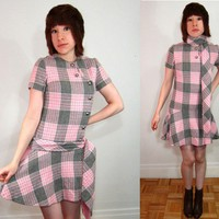 vintage 1960s dress  Perky In Plaid by MissTurnstyles on Etsy