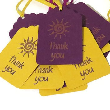10 Tangled sun favor tags, tangled birthday party supplies, handmade favor tags