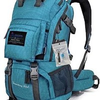 Oxking Mountaintop Outdoor Hiking Climbing Backpack Daypacks Waterproof Mountaineering Bag M5811 Shoulder Bag 35L-50L Unisex High-capacity Travel Bags Loptop Bags + Free Gift + Nail Clippers Multi Colors