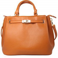 Orange Front Lock Shoulder Bag by Chic+ - Bags - Goods - Retro, Indie and Unique Fashion