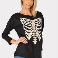 X- Ray Sweat Shirt - Black at Necessary Clothing