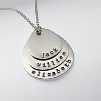 Hand-stamped mother + child necklace at RedEnvelope.com