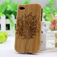 Wooden iPhone 4 case, iPhone 4s case, iPhone case, case for iPhone 4 - tree 2