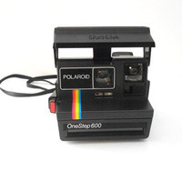 Vintage Polaroid Camera - TESTED Rainbow Stripe Polaroid One Step 600