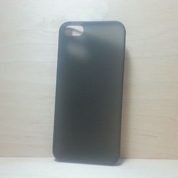 For Apple iPhone 5 / 5s Frosted Black Super Slim 0.3 mm Hard Plastic Snap On Case