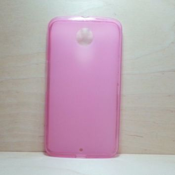 For Google Nexus 6 Pink Soft TPU translucent Color Case Protective Silicone Back Case Cover
