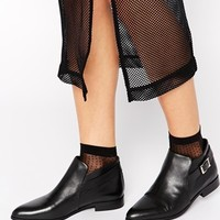 Selected Ulisa Black Leather Ankle Boots