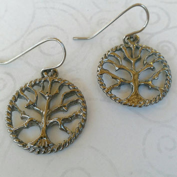 Tree of life earring, tree earring, silver tree earring,tree of life