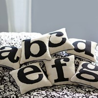 Alphabet Needlepoint Pillow