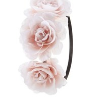 Oversized Rose Flower Crown by Charlotte Russe - Pink Combo