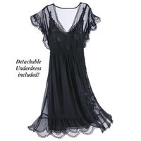 Noir Lace Dress - New Age &amp; Spiritual Gifts at Pyramid Collection