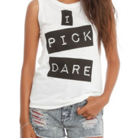 I Pick Dare Girls Muscle Top 3XL