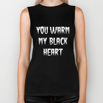 YOU WARM MY BLACK HEART part 2 Biker Tank by Simply Wretched