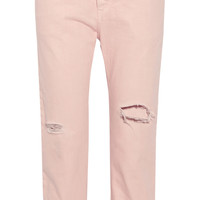 Acne Studios Distressed high-rise straight-leg jeans – 50% at THE OUTNET.COM