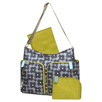 Orla Kiely for Target Printed Floral Hobo Diaper Bag - Gray