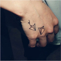 Tattoo temporary, Long lasting tattoo - paper crane tattoo 16