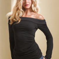 Off-the-Shoulder Lightly Padded Bra Top
