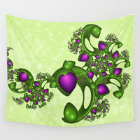 Fractal Love And Hope Wall Tapestry by Gabiw Art