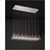 ET2 Larmes Twenty-Four Light Pendant in Brushed Nickel | All Modern