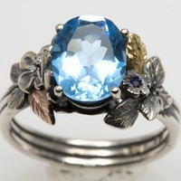 Blue Topaz Promise Ring by luisfernando on Etsy