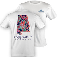 "Simply Southern White ""Alabama"" Short Sleeve"