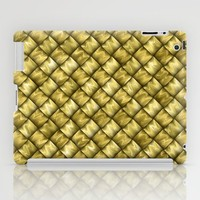 Patchwork Gold iPad Case by Alice Gosling