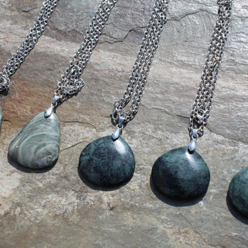 Custom Green and Black Marble Pendant Necklaces, Create Your Own Necklace, Design Your Own Necklace, Design a Gift for a Friend, Gift Idea