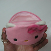 Christmas gift/ Coin purse / Cute kitty zipper pouch / kawaii coin purse / Zippered coin purse / Cute coin purse/ Ready to ship