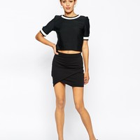 ASOS Mini Skirt in Sweat with Wrap