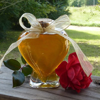 Bridesmaid Gift Set, Raw Wildflower Honey 9oz Antique Style Heart Jar, Handmade Curly Maple Wood Perfume Pen Set, Tennessee Raw Honey