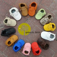 Baby Leather Moccasins, Baby Moccs 30 colors custom sizes 0-24 months