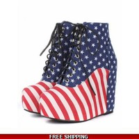 USA wedge ankle boot