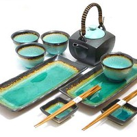 Ocean Breeze Sushi and Tea Set - A Unique Sushi Gift for Him or Her