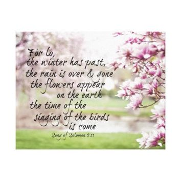 Spring Bible Verse with Magnolia Trees