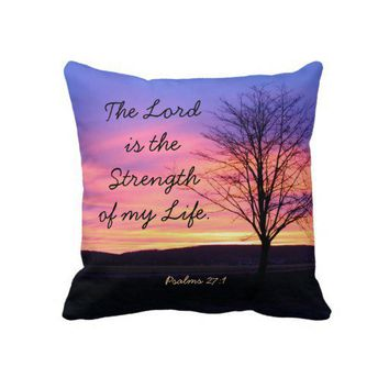 Bible Verse Throw Pillow from Zazzle.com