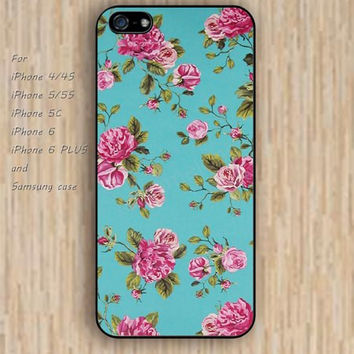 iPhone 5s 6 case colorful flowers rose case blue phone case iphone case,ipod case,samsung galaxy case available plastic rubber case waterproof B274