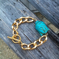 Buddha Chunky Chain Bracelet