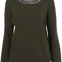 Knitted Necklace Jumper - New In This Week  - New In