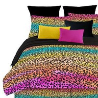 Amazon.com: Street Revival Rainbow Leopard Twin Comforter Set, Multi: Home &amp; Kitchen