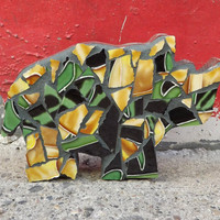 Mosaic Rhino Childrens Decor