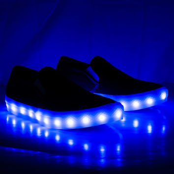 Jordan04W Round Toe Slip On 7 Color LED Light Up Sneaker Shoes