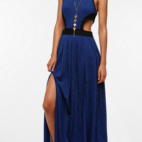 Silence & Noise Mesh Mix Cutout Maxi Dress