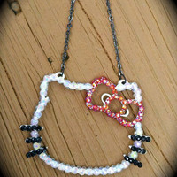 AB White HELLO KITTY necklace